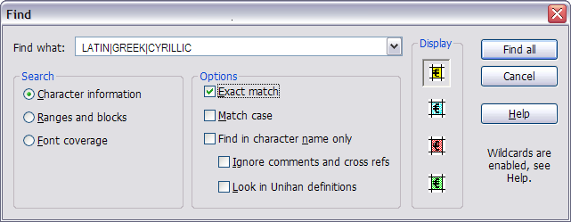 Unibook Character Browser